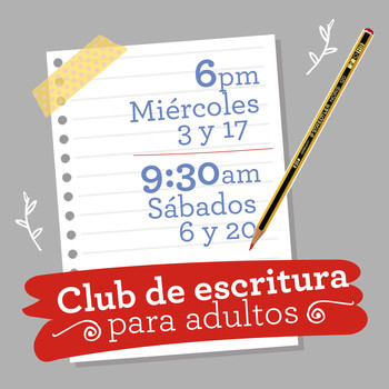 CLUB DE ESCRITURA CREATIVA ADULTOS