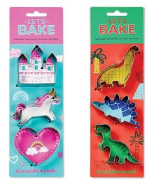 LET'S BAKE DINOSAUR COOKIE CUTTERS