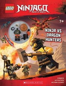 NINJA VS. DRAGON HUNTERS: ACTIVITY BOOK WITH MINIFIGURE